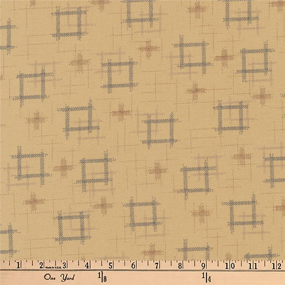 Kaufman Kasuri Hash Plaid Natural