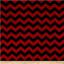 Jersey Knit Chevron Black/Burgundy