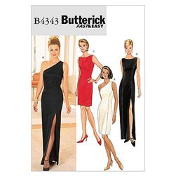 Butterick Misses/Misses' Petite Lined Dress Pattern B4343 Size 140