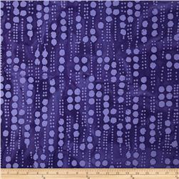 Indian Batiks Hollow Ridge Line Dots Purple