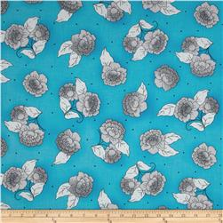 Cozumel Spaced Floral Blue