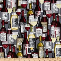Kanvas Wine Connoisseur Bottles Grey
