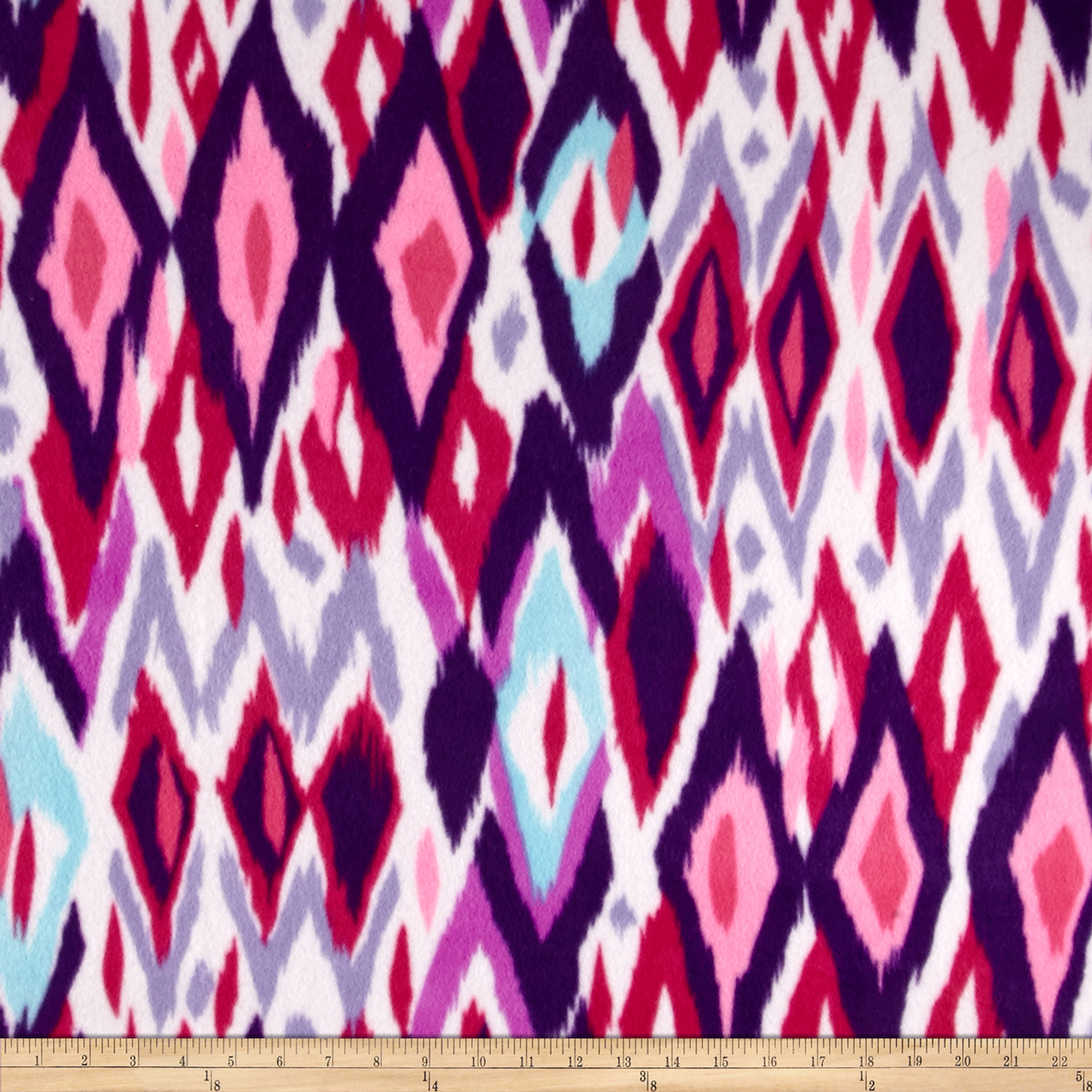 Polar Fleece Print Chipotle Begonia Fabric by Newcastle in USA