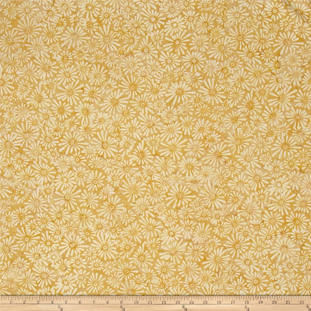 Wilmington Batiks Flower Field Golden