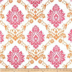 RCA Sheers Damask Pink/Orange Fabric