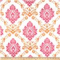 RCA Sheers Damask Pink/Orange