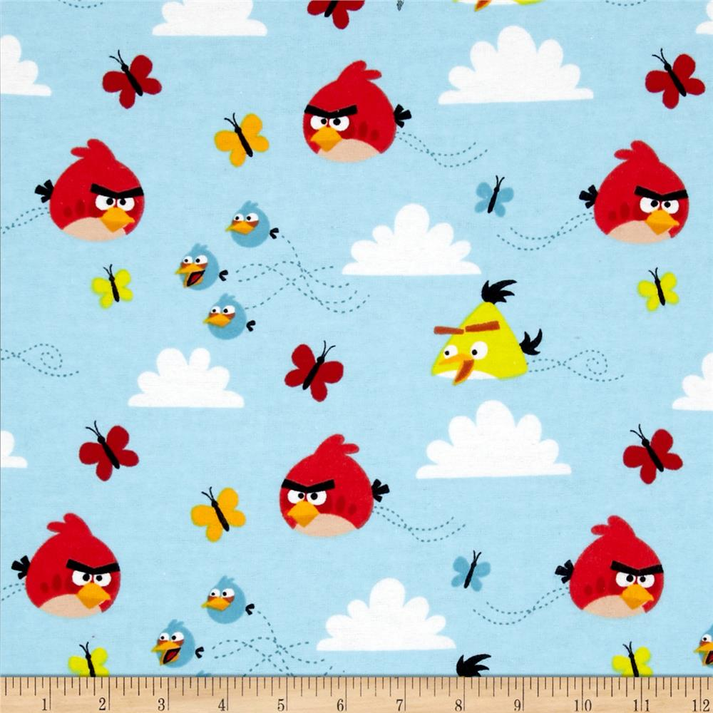 Angry Birds Flannel Float On Blue