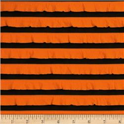 Two-Tone Ruffle Knit Orange/Black