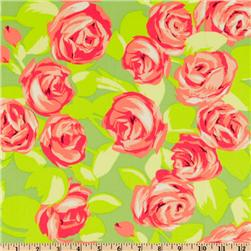 Amy Butler Love Tumble Roses Tangerine Fabric