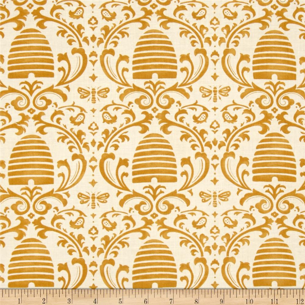 Moda Bee Creative Beehive Damask White Gold