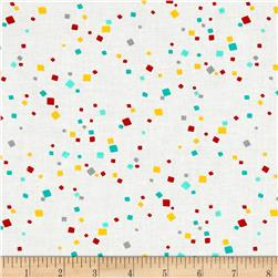 Timeless Treasures Crafty Gemini Dominicana Confetti White