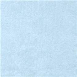 Whisper Coral Fleece Solid Blue Fabric