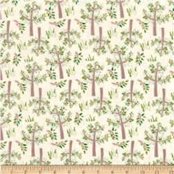 Jungle Giraffe Trees and Grass Flannel Lime