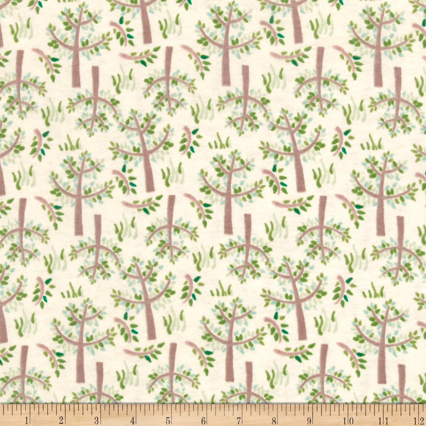 Jungle Giraffe Trees and Grass Flannel Lime Fabric by David in USA