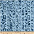 Bountiful Quilt Blocks Med Blue