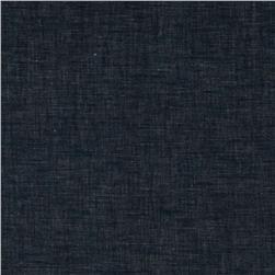 Cotton Linen Look Shirting Blue