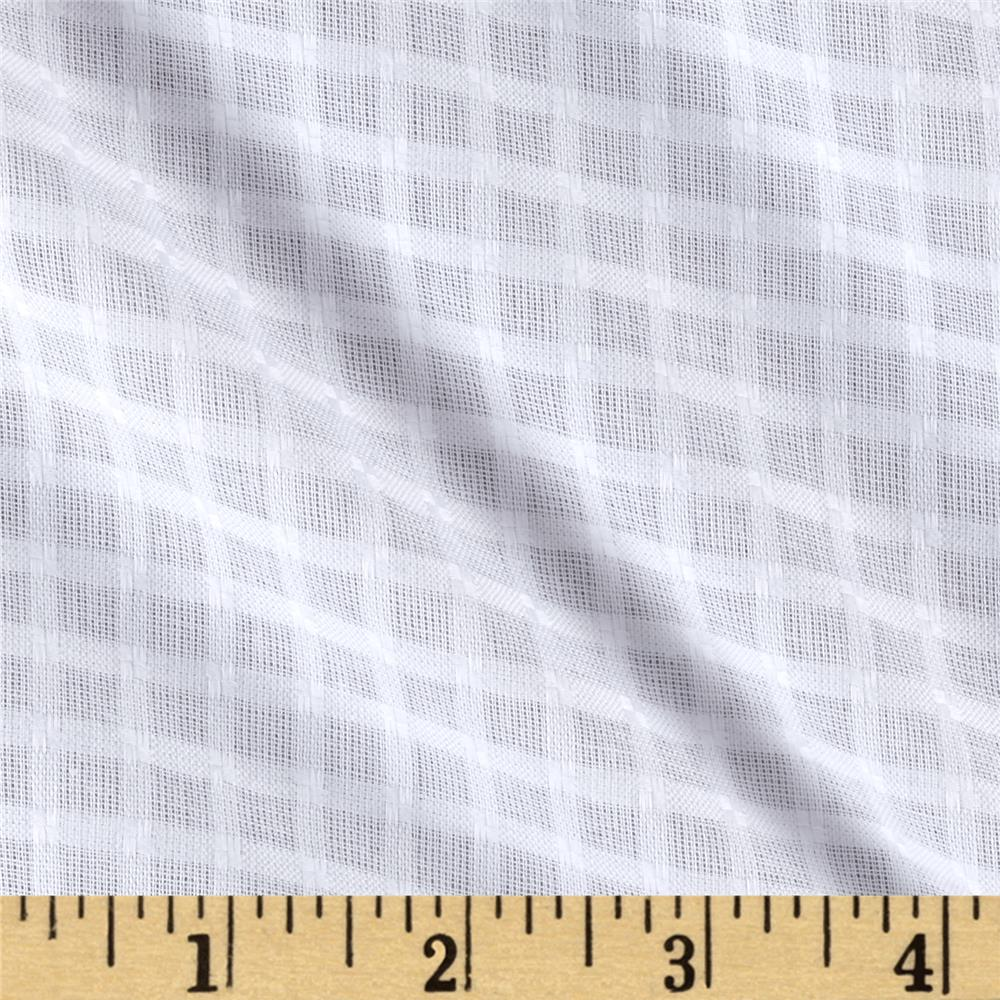 Swiss Plaid Shirting White