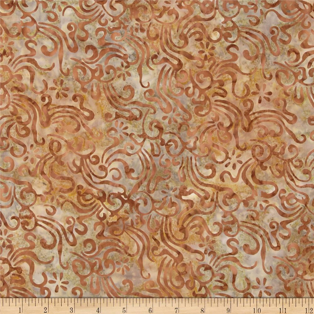 Indonesian Batiks Swirls Bronze