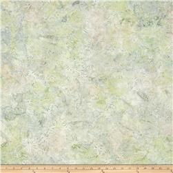 Batavian Batiks Flower Field Tan/Green
