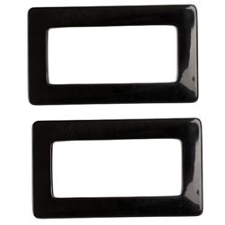 Purse Handle Rectangle 3'' x 5 1/8'' Black