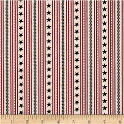 Oh My Stars American Classic Ticking Stripe Red