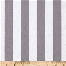 Riley Blake 1'' Stripe Grey Fabric