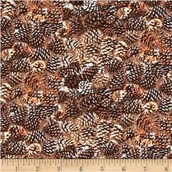 Moose Lodge Pinecones Brown