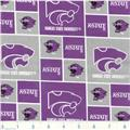 Collegiate Cotton Broadcloth Kansas State University Wildcat