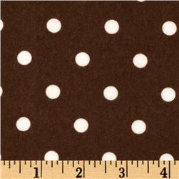 Cozy Cotton Flannel Polka Dot Cocoa Fabric