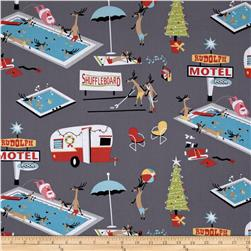 Michael Miller Holiday Break Grey Fabric