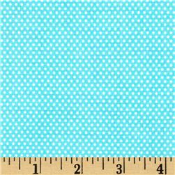 Riley Blake Santa's Workshop Minidot Blue