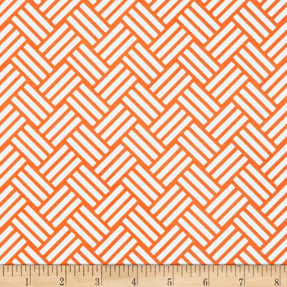 Michael Miller Bekko Home Decor Tatami Tangerine