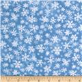 Snow Day Scenic Snowflakes Light Blue