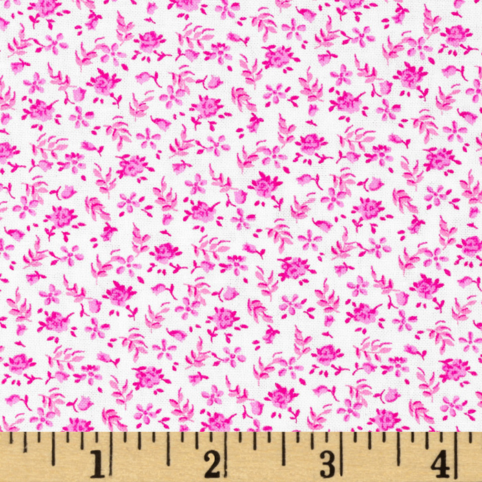 108'' Quilt Backing Floral Pink Fabric