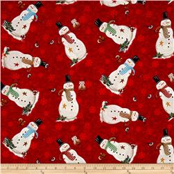 Gina Linn A Time Of Wonder Snowmen Red