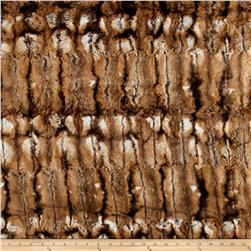Luxury Wildcat Faux Fur Brown