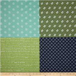 Riley Blake Modern Minis Fat Quarter Panel Green