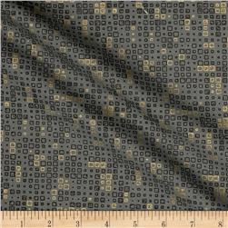 Moda Modern Backgrounds Luster Metallic Tiles Graphite