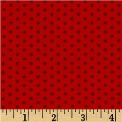 Kaufman Spot On Pindot Cardinal Fabric
