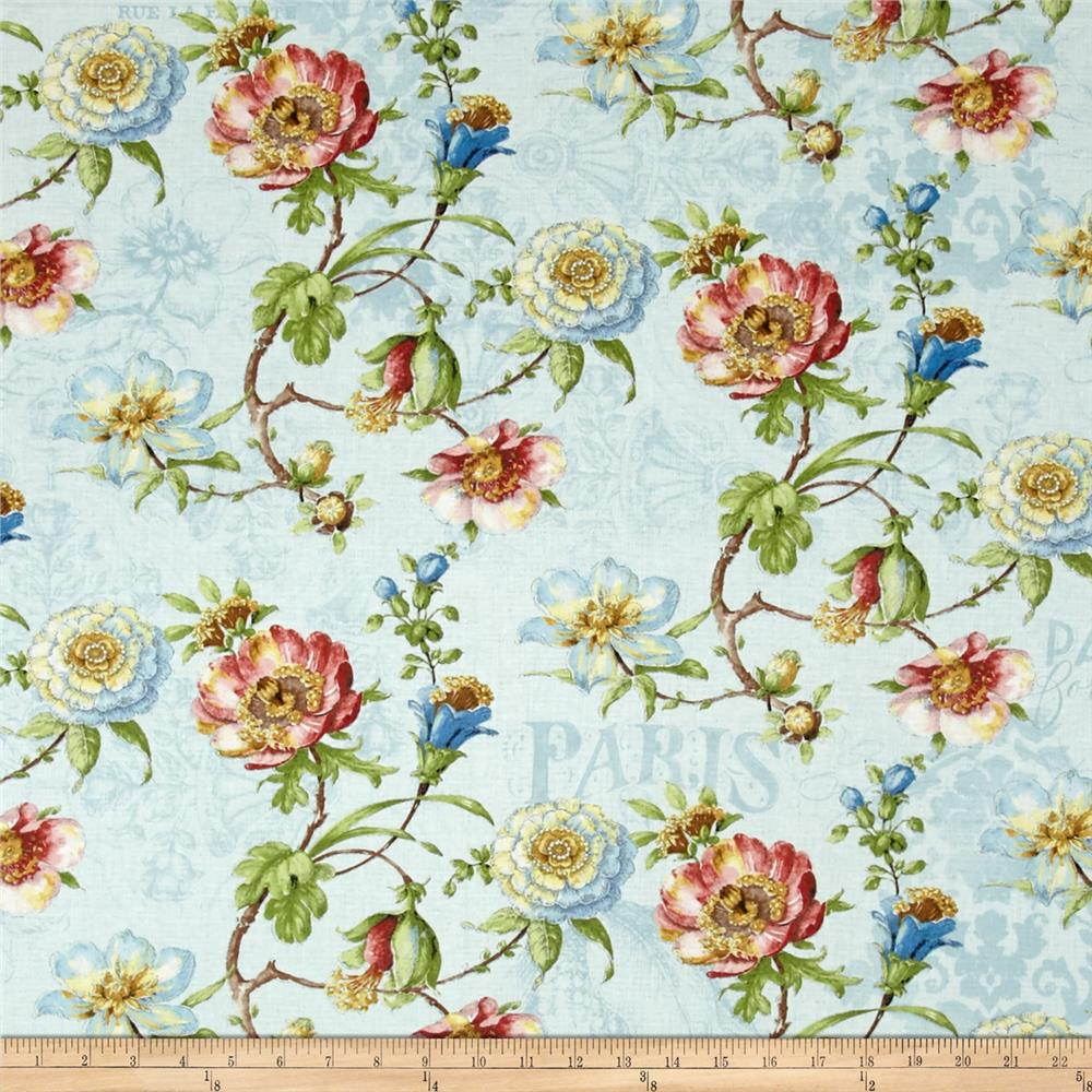 Paris Forever Large Floral Blue