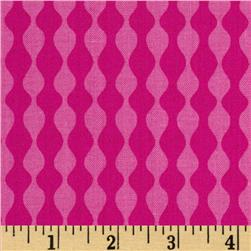 Mosaica Wavy Stripes Pink Fabric