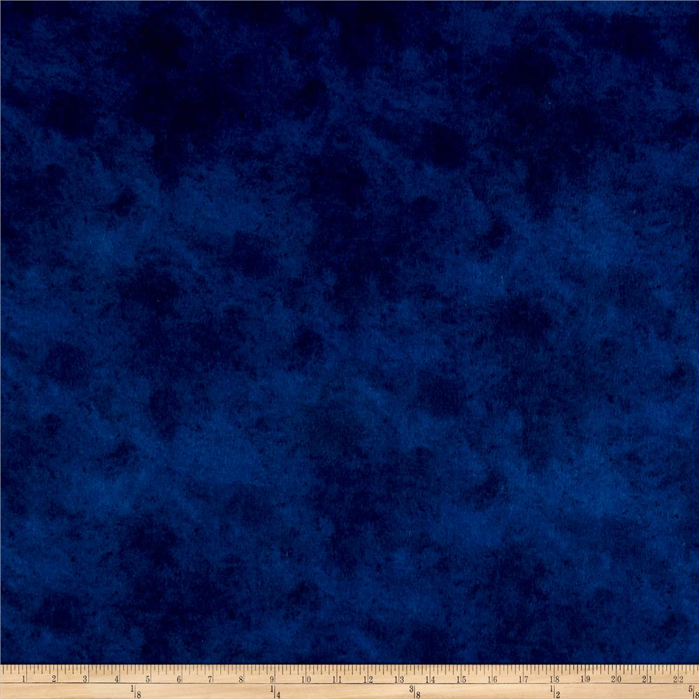 Suede Flannels Navy Fabric