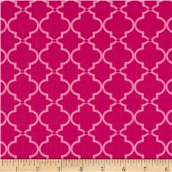 In the Navy Ogee Tile Pink
