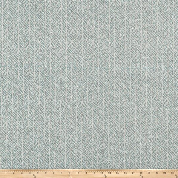 Scott Living Grace Basketweave Cyan Light Blue Belgian Fabric