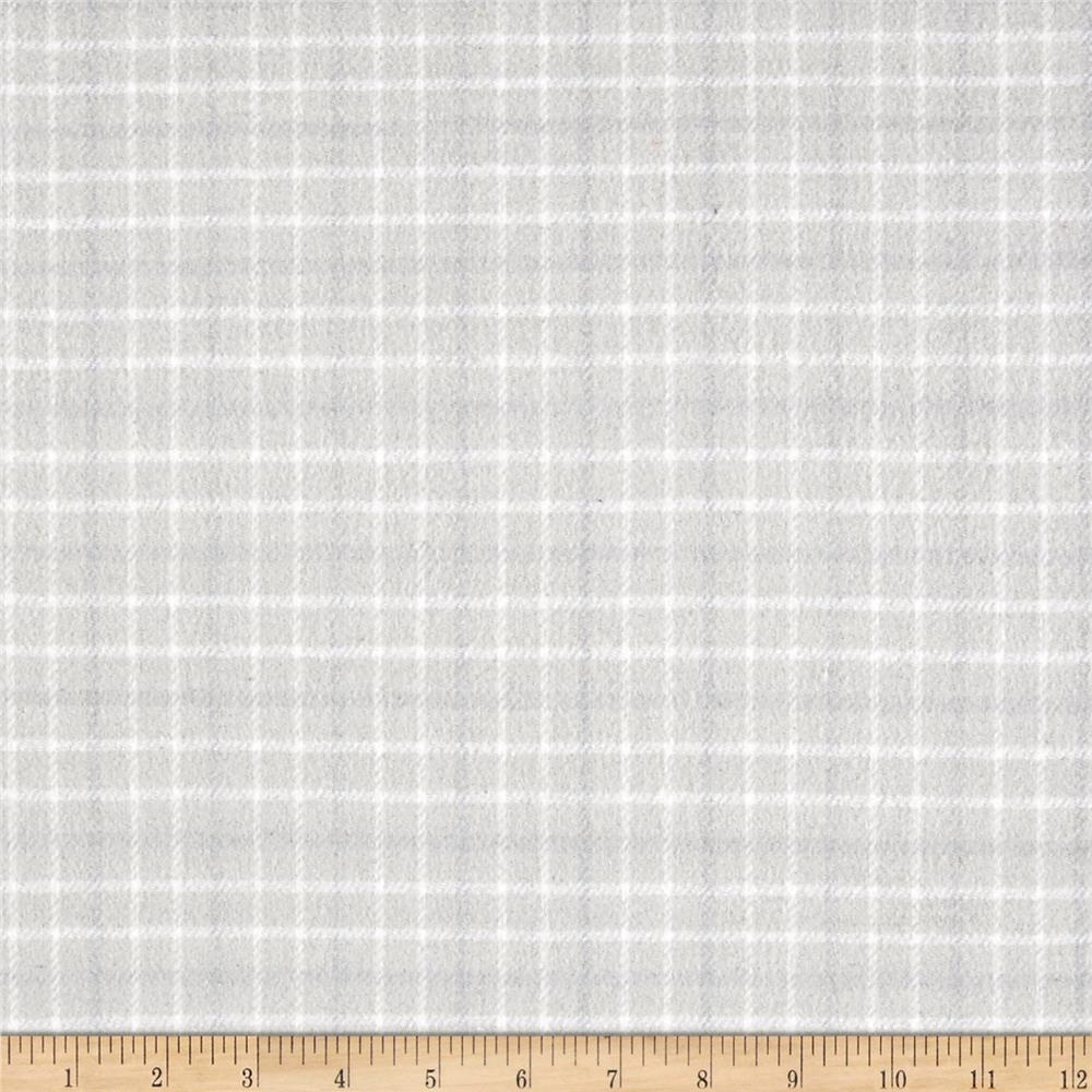 Local Color Yarn Dyed Flannels Small Plaid Pale Gray