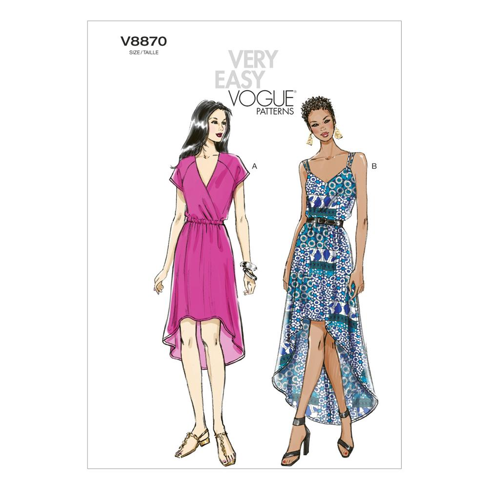 Vogue Misses' Dress Pattern V8870 Size 0Y0