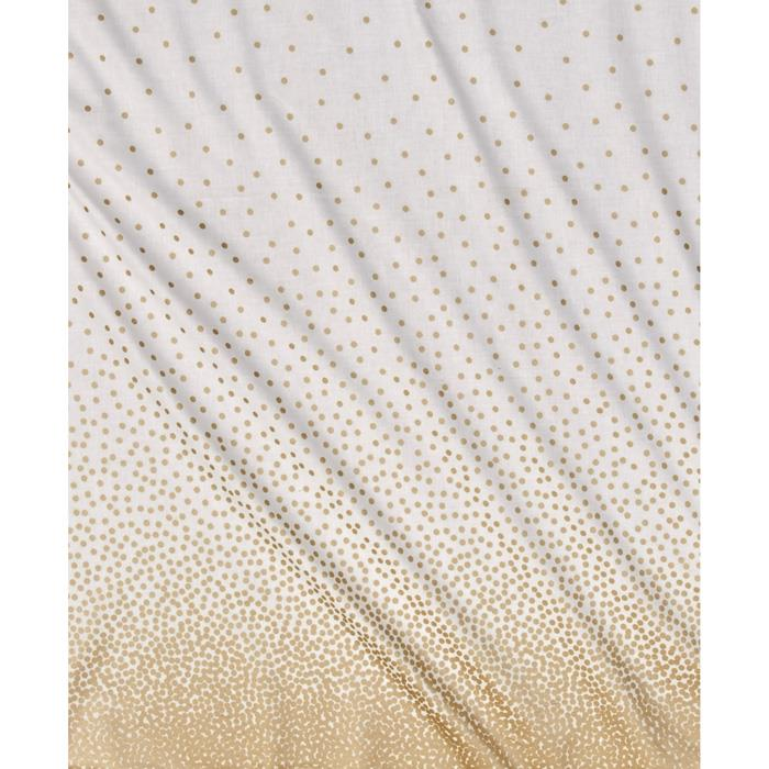 Michael Miller Glitz Metallic Confetti Border Pearlized White-Rose Gold