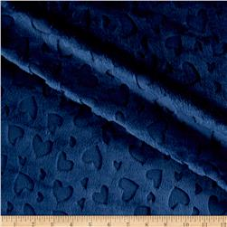 Shannon Embossed Heart Cuddle Navy