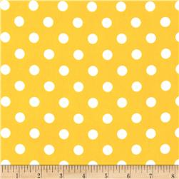 Stretch ITY Jersey Knit Small Dots Dark Yellow/White