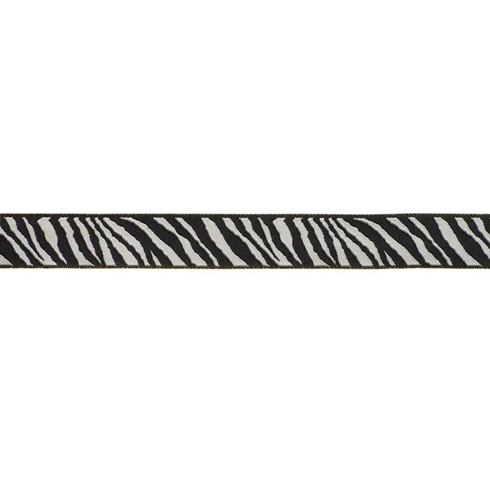 7/8'' Ribbon Zebra Black/Bone